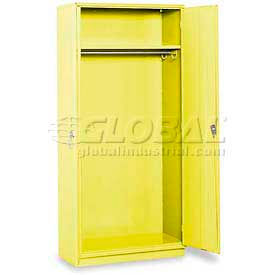 "Equipto Wardrobe Cabinet, 36""W x 18""D x 78""H, Textured Safety Yellow"