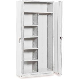 """Equipto 36""""W x 24""""D Combination Cabinet - Textured Dove Gray"""