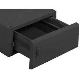 Equipto® Drawer For Mounting Under Bench 221-BK, Starting Unit, Black