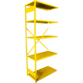 "Equipto VG-20 Gauge Open Shelf Add On Unit - 36""W X 18""D X 84""H w/ 5 Shelves, Bright Yellow"