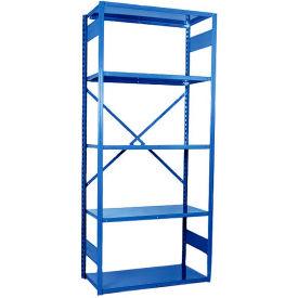 """Equipto VG-20 Gauge Open Shelf Starter Unit - 36""""W X 18""""D X 84""""H w/ 5 Shelves, Textured Regal Blue"""