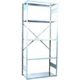 "Equipto VG-20 Gauge Open Shelf Starter Unit - 36""W X 18""D X 84""H w/ 5 Shelves, Reflective White"