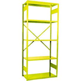 """Equipto VG-20 Gauge Open Shelf Starter Unit - 36""""W X 18""""D X 84""""H w/ 5 Shelves, Bright Yellow"""
