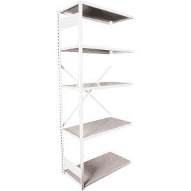 "Equipto VG-20 Gauge Open Shelf Add On Unit - 36""W X 18""D X 84""H w/ 7 Shelves, Reflective White"