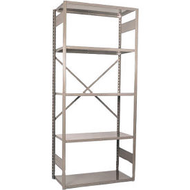 "Equipto VG-20 Gauge Open Shelf Starter Unit - 36""W X 24""D X 84""H w/ 7 Shelves, Textured Putty"