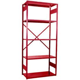 """Equipto VG-20 Gauge Open Shelf Starter Unit - 36""""W X 24""""D X 84""""H w/ 7 Shelves, Textured Cherry Red"""