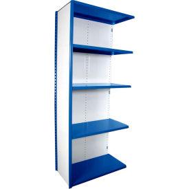 "Equipto VG-20 Gauge Closed Shelf Add On Unit - 36""W X 18""D X 84""H w/ 5 Shelves, Textured Regal Blue"