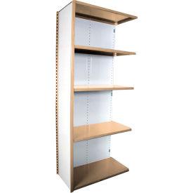 "Equipto VG-20 Gauge Closed Shelf Add On Unit - 36""W X 18""D X 84""H w/ 5 Shelves, Textured Putty"