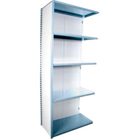 "Equipto VG-20 Gauge Closed Shelf Add On Unit - 36""W X 18""D X 84""H w/ 5 Shelves, Reflective White"