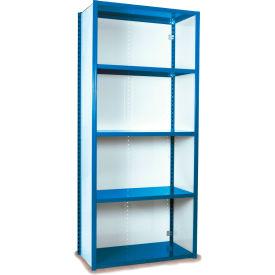 "Equipto VG-20 Gauge Closed Shelf Starter Unit - 36""W X 18""D X 84""H w/ 5 Shelves, Regal Blue"