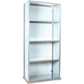 "Equipto VG-20 Gauge Closed Shelf Starter Unit - 36""W X 18""D X 84""H w/ 5 Shelves, Reflective White"
