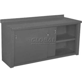 Closed Workbench w/Sliding Door - 4', Office Gray