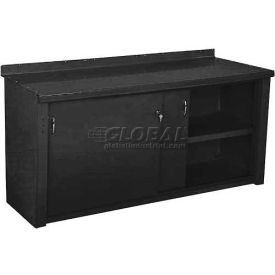 Closed Workbench w/Sliding Door - 5', Black