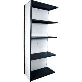 "Equipto VG-20 Gauge Closed Shelf Add On Unit - 48""W X 24""D X 84""H w/ 7 Shelves, Textured Black"