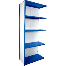 "Equipto VG-20 Gauge Closed Shelf Add On Unit - 48""W X 24""D X 84""H w/ 7 Shelves, Textured Regal Blue"