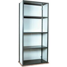 "Equipto VG-20 Gauge Closed Shelf Starter Unit - 48""W X 24""D X 84""H w/ 7 Shelves, Smooth Office Gray"