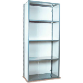 "Equipto VG-20 Gauge Closed Shelf Starter Unit - 48""W X 24""D X 84""H w/ 7 Shelves, Textured Dove Gray"