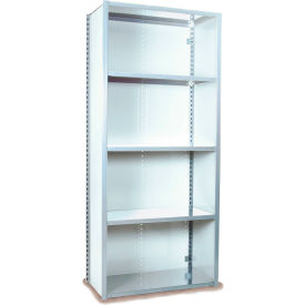 "Equipto VG-20 Gauge Closed Shelf Starter Unit - 48""W X 24""D X 84""H w/ 7 Shelves, Reflective White"