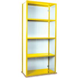 "Equipto VG-20 Gauge Closed Shelf Starter Unit - 48""W X 24""D X 84""H w/ 7 Shelves, Bright Yellow"