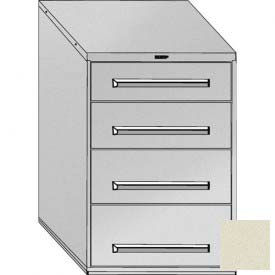 "Equipto 30""W Modular Cabinet 44""H, 4 Drawers w/Dividers, No Lock-Textured Putty"