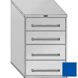 """Equipto 30""""Wx44""""H Modular Cabinet 4 Drawers w/Dividers, No Lock-Textured Regal Blue"""