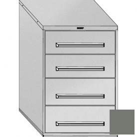 "Equipto 30""Wx44""H Modular Cabinet 4 Drawers No Divider, No Lock-Smooth Office Gray"
