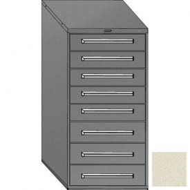 "Equipto 30""W Modular Cabinet 59""H, 8 Drawers w/Dividers, & Lock-Textured Putty"