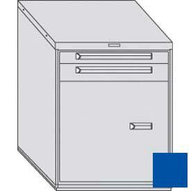 "Equipto 30""W Modular Cabinet 2 Drawers No Divider w/Door & Shelf, 38""H, No Lock-Textured Regal Blue"