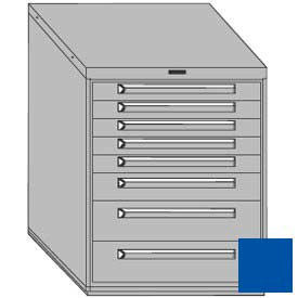 """Equipto 30""""W Modular Cabinet 8 Drawers w/Dividers, 38""""H, No Lock-Textured Regal Blue"""