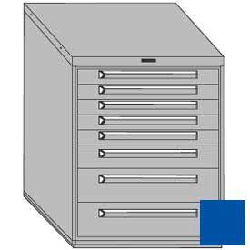 "Equipto 30""W Modular Cabinet 8 Drawers No Divider, 38""H & Lock-Textured Regal Blue"