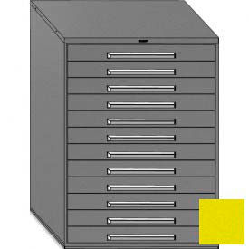 "Equipto 45""W Modular Cabinet 12 Drawers No Divider, 59""H, No Lock-Textured Safety Yellow"