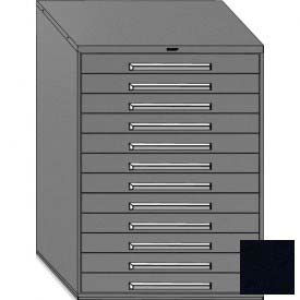 """Equipto 45""""W Modular Cabinet 12 Drawers w/Dividers, 59""""H, No Lock-Textured Black"""