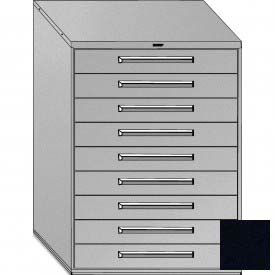 "Equipto 45""W Modular Cabinet 9 Drawers No Divider, 59""H & Lock-Textured Black"