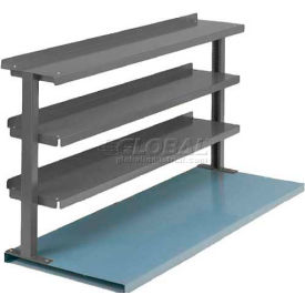 """Equipto® Production Booster 463T60-GY, 60""""W X 36""""H, 3 Shelves, Office Gray"""