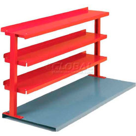 "Equipto® Production Booster 463T60-RD, 60""W X 36""H, 3 Shelves, Cherry Red"