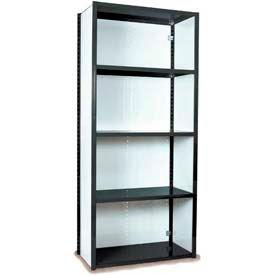 "Equipto Vg Closed Shelf Starter Unit - 36"" W X 12"" D X 84"" H W/ 5 Shelves, Textured Black"