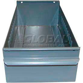 "Equipto Individual Metal Shelf Drawer, 4-1/4""W x 11""D x 3-1/8""H, Smooth Office Gray by"