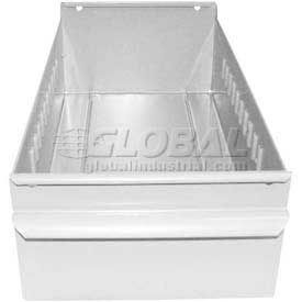 "Equipto Individual Metal Shelf Drawer, 4-1/4""W x 11""D x 3-1/8""H, Smooth Reflective White"