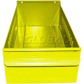 "Equipto Individual Metal Shelf Drawer, 4-1/4""W x 11""D x 3-1/8""H, Textured Safety Yellow"
