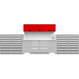 EB Upper Cabinet System-(2)TBU-2GS and (1)TBU-MGS, Reflective White