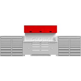 EB Upper Cabinet System-(2)TBU-3 and (1)TBU-M, Dove Gray