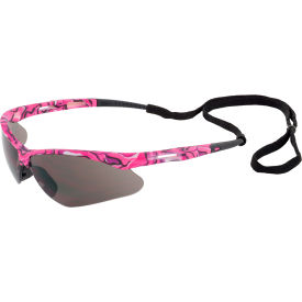ERB Annie Safety Glasses, Pink Camo Frame, Gray Lens, 15342 Package Count 12 by