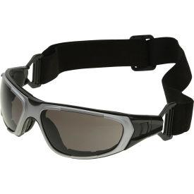 NT2 Interchangeable Safety Glasses, ERB Safety, 17998 - Gray Frame, Smoke Anti-Fog Lens - Pkg Qty 12