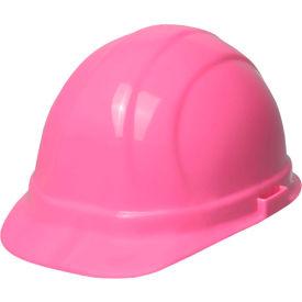 ERB 19129 Omega II Hardhat, 6-Point Pinlock Suspension, Hi-Viz Pink by