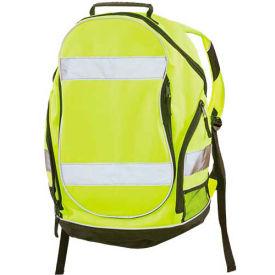 """ERB™ 29003, BPI Backpack, Hi-Vis Lime, 19"""" x 12-1/2"""" x 8"""""""