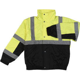 Aware Wear® Winter Wear ANSI Class 2 Bomber Jacket, 61592 - Lime/Black, Size L