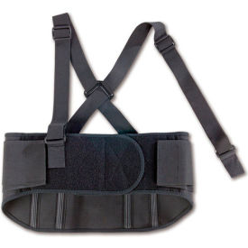 Ergodyne® ProFlex® 1600 Standard Elastic Back Support, Black, Large
