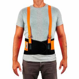 Ergodyne® ProFlex® 100 Economy Hi-Vis Back Support, Orange, XS