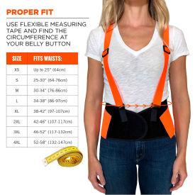 Ergodyne® ProFlex® 100 Economy Hi-Vis Back Support, Orange, 2XL