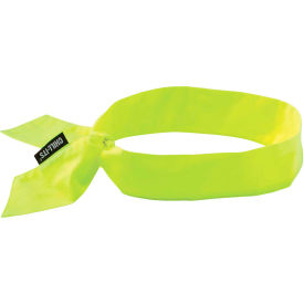 Ergodyne® Chill-Its® 6700 Evaporative Cooling Bandana - Tie, Lime - Pkg Qty 24